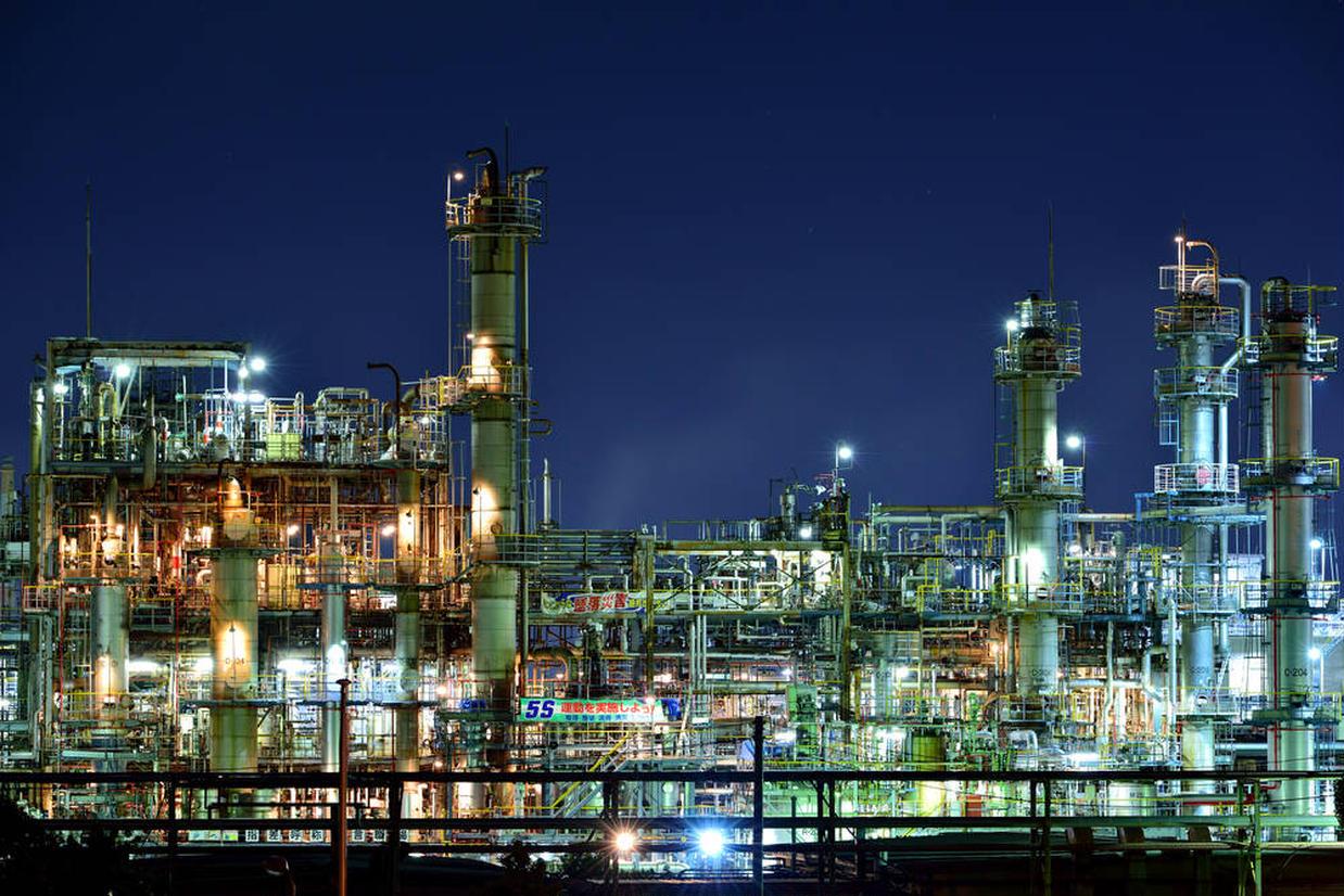 周南コンビナートの工場夜景