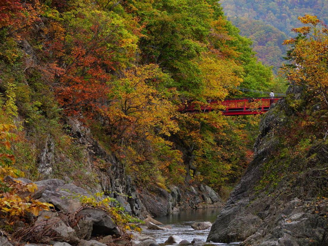 二見吊橋(定山渓温泉)