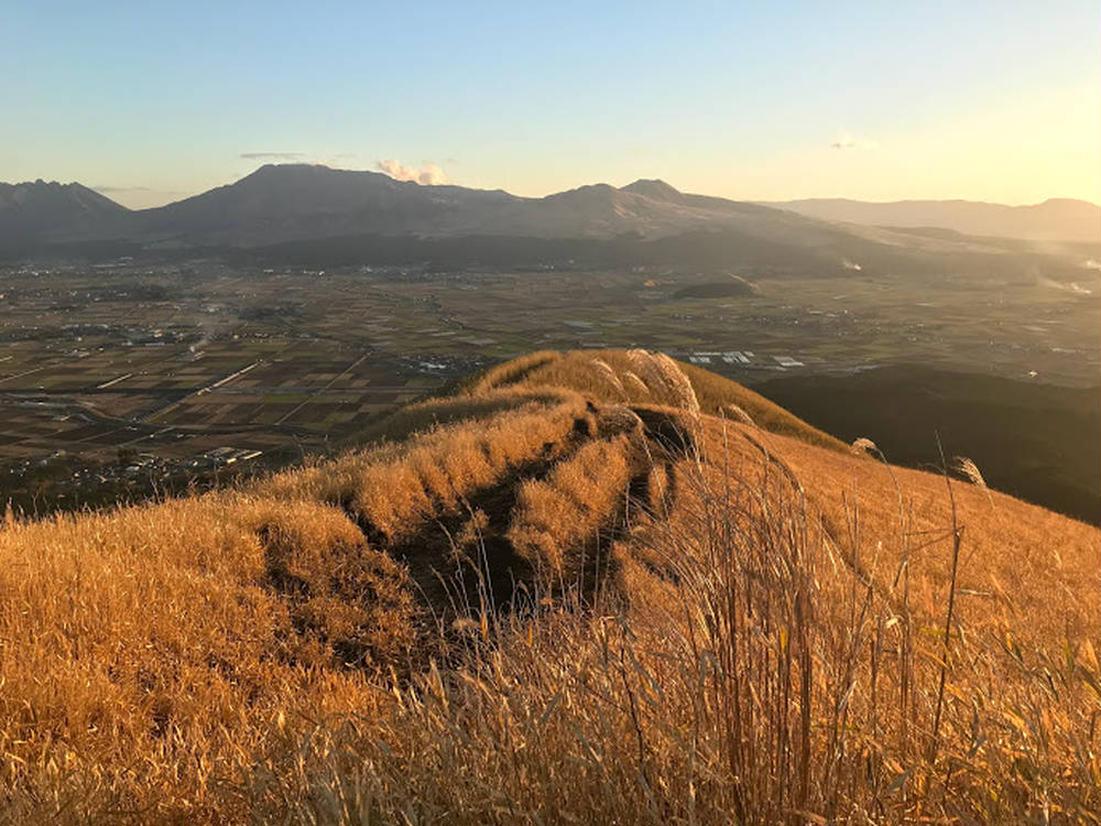 秋から冬に見られる大観峰