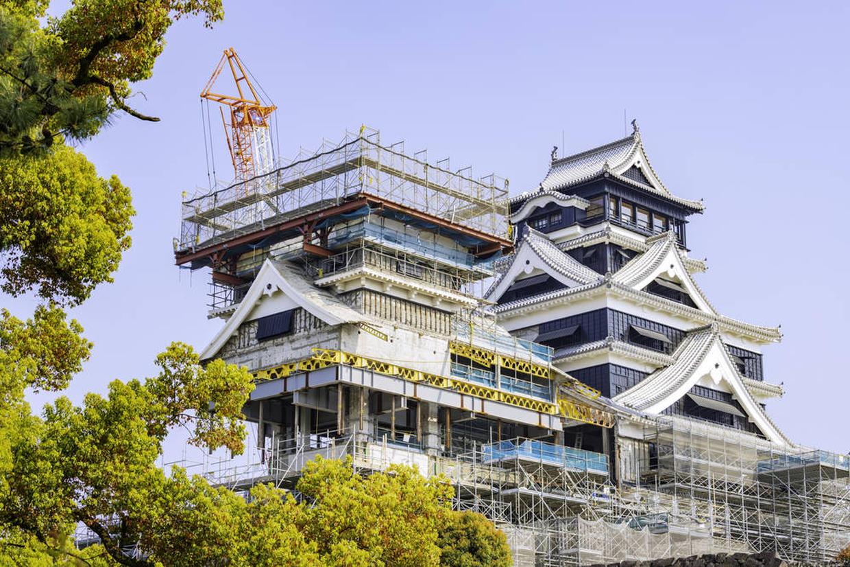 熊本城 復旧工事様子