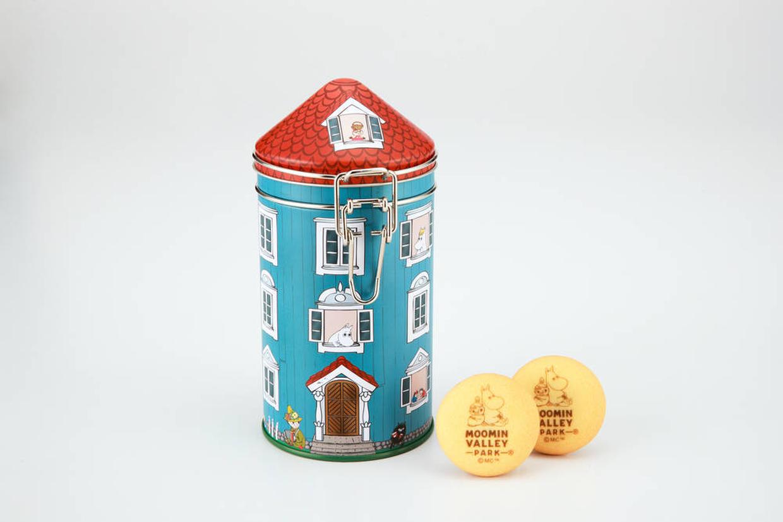 ハウス型キャニスター缶 チョコインクッキー(1,620円)© Moomin Characters ™