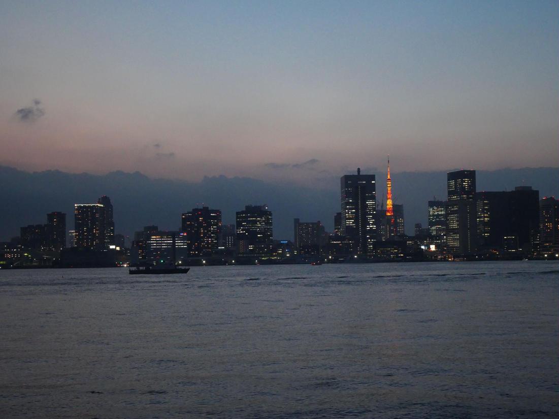 有明北緑道公園からの東京タワー