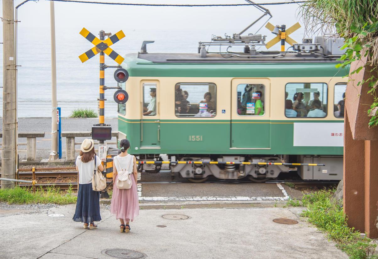江ノ電 鎌倉高校前駅付近
