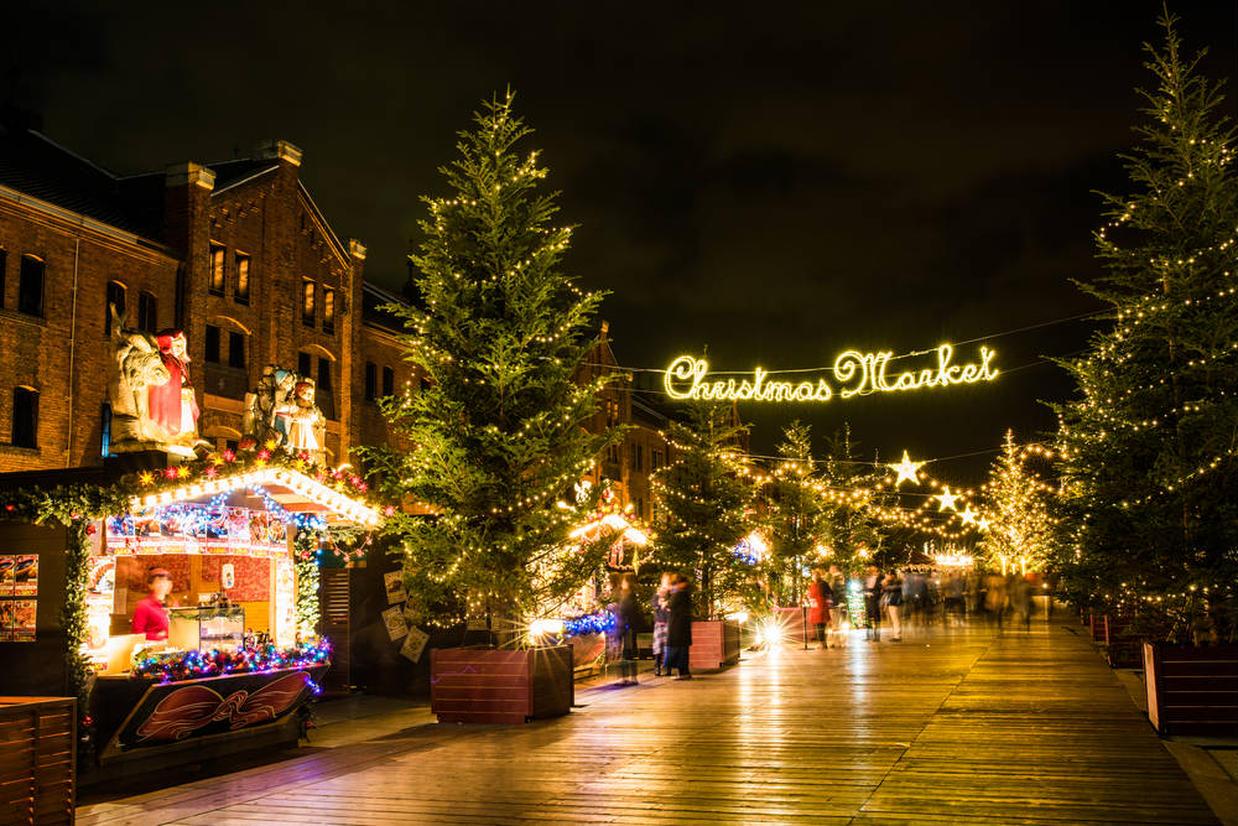 クリスマスマーケット時の赤レンガ倉庫