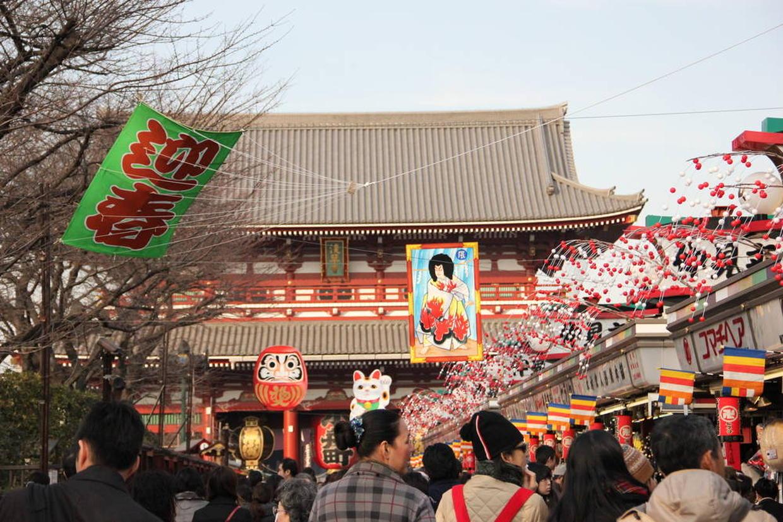 浅草寺 初詣の様子