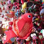 「アクアマリンのひな祭り」金魚やエビなど展示している生き物も!約5000個のつるし飾りが登場
