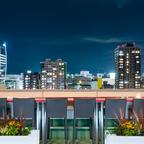 地上50メートルのビアガーデン!「ホテルオークラ新潟」の14階屋外テラスで絶好のロケーション