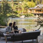 800年の歴史ある積翠園を望むシャンパンガーデン!プレミアムシャンパーニュ「ボランジェ」を堪能