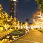 きらきら輝くゴールドのイルミネーション!「東京ミッドタウン」で幻想的な別世界を散策