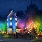 大規模な光の演出×新感覚の音響体験!限定ナイトアトラクションがムーミンバレーパークに登場