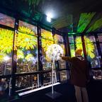 テーマはタンポポ!夜景に溶け込むプロジェクションマッピング「東京タワー」にて展示