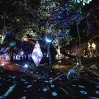 夢をテーマにした光のアートが水面を幻想的に演出!岡山県の名勝「衆楽園」にて開催