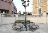 ジョエル・ロブション前のベンチ