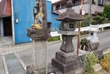 大山道道標(羽根尾通り入口)