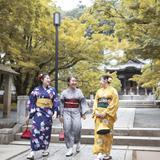 紅葉に彩られるノスタルジックな街を着物姿で散策!「伊豆マリオットホテル修善寺」で楽しむ休日