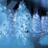 ホワイトツリー×切り絵の動物たち!幻想的な空間を楽しむイベントが梅田スカイビルで開催