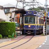 [腰越駅~江ノ島駅]江ノ電とクルマが並走する景色♪