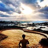 不老不死温泉海辺の露天風呂