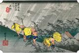 庄野宿  庄野(白雨)