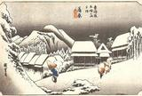 蒲原宿  蒲原(夜の雪)