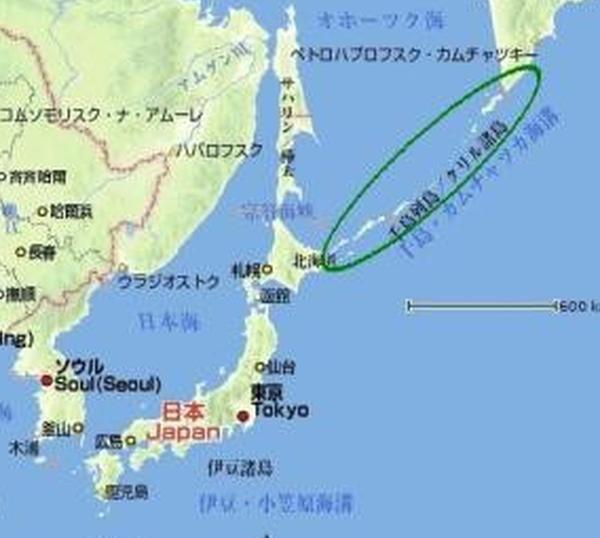 千島列島までを考慮すると...。