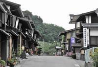 福島宿 上の段の町並みの写真・動画_image_23870