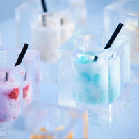 【トマム】氷のBooks_Cafe  氷のラテ
