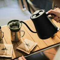 自分で挽いた豆で淹れた美味しいコーヒーを堪能