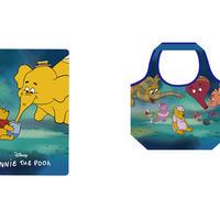 """しぼ合皮フラットポーチ、くるくるエコバッグ(c) Disney. Based on the """"Winnie the Pooh"""" works by A.A. Milne and E.H. Shepard."""
