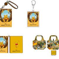 """合皮パスケース、アクリルキーホルダー、しぼ合皮フラットポーチ、くるくるエコバッグ(c) Disney. Based on the """"Winnie the Pooh"""" works by A.A. Milne and E.H. Shepard."""