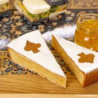 マヨルカ風アーモンドケーキ オレンジマーマレード添え イメージ