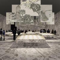 建築家・田根剛氏による『北斎漫画』展示プラン(イメージは構想段階のもの)
