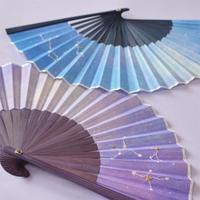 星空刺繍扇子 イメージ