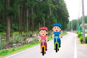 越知川名水ポイントと田園風景を駆け巡る自転車下りの旅