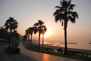 吉良ワイキキビーチを早朝ポタで快走♪