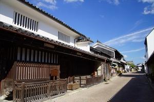 江戸時代から続く町並み散歩。「うだつ」の上がる家々のある脇町うだつの町並み。