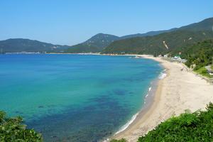 青い空!透明な海!やっぱり水晶浜が最高!