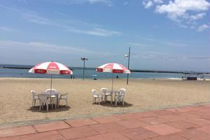 夏ナツ須磨ビーチを家族でゆっくり楽しみましょうね〜