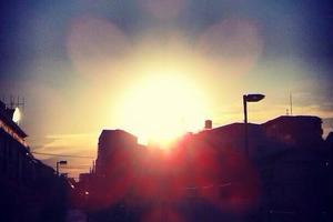 中野区で夕日、夕焼け空が綺麗に見える場所