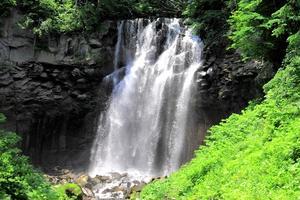 滝野すずらん丘陵公園で滝めぐり