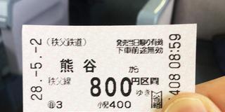 日帰り:秩父大満喫(秩父華厳の滝~羊山公園)と電車とバスと散歩