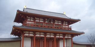 近鉄大和西大寺から眺める平城京の街並み