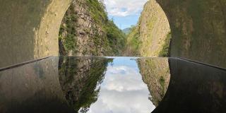 清津峡渓谷トンネルからのアートの越後湯沢!