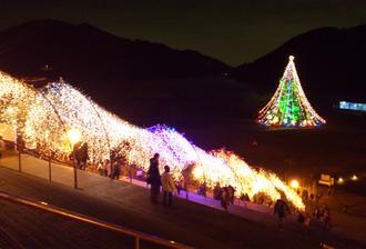 集落全体がクリスマス☆ 別世界の様なキラキラ清川村!