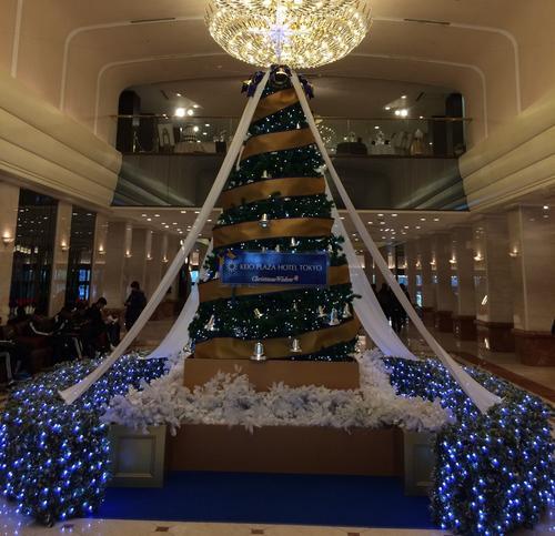 新宿の大きなクリスマスツリーを見に行く