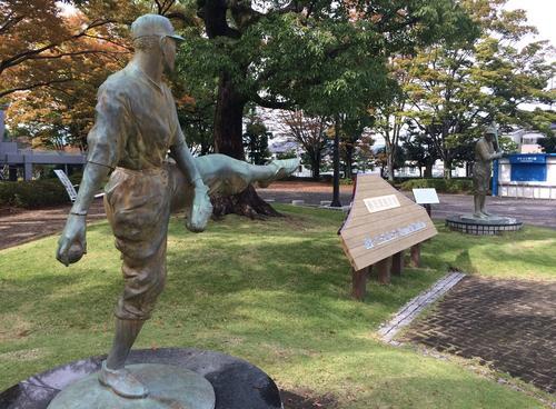 日米野球の元祖!草薙球場は沢村英治伝説の野球場です!