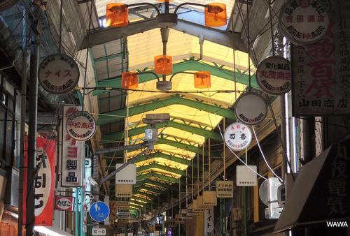 大阪西成区の昭和レトロなアーケード商店街散歩