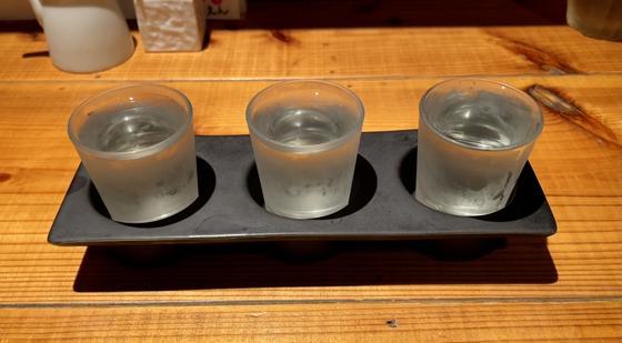 利き酒3種セット900円