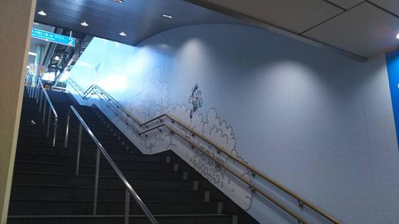 階段にもドラえもん