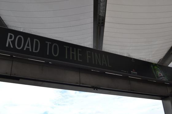 UCLの決勝の会場でした